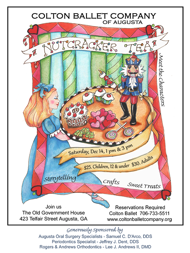 Colton Ballet Company 2019 Nutcracker Tea Party poster